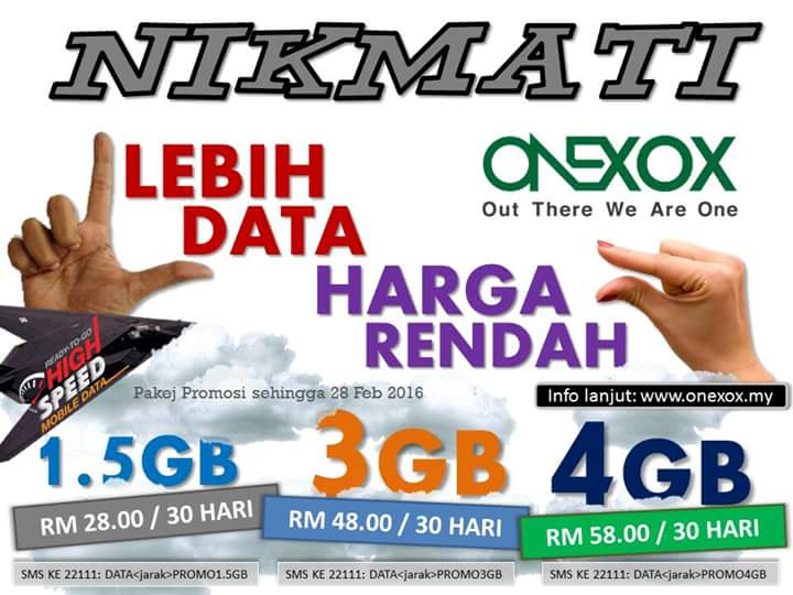 data ONEXOX baru murah